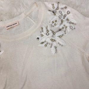 Rebecca Taylor Rhinestone Accent Sweater Size S